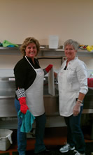Volunteering at the Senior Center